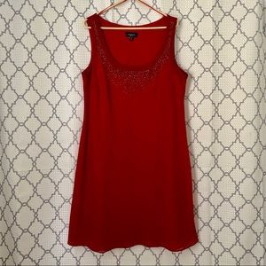 Red Sleeveless R&M Richards Dress
